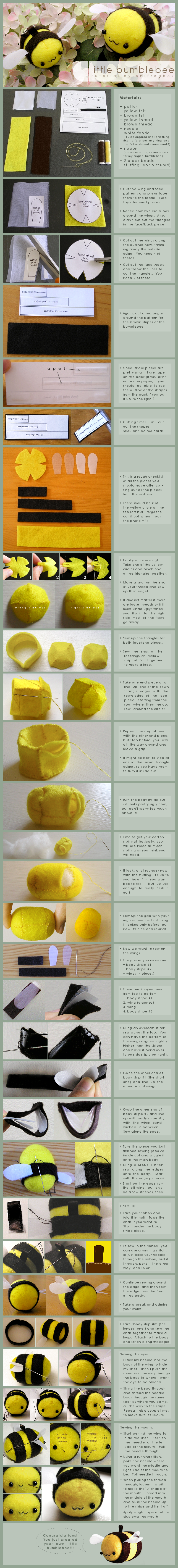 little bumblebee: tutorial by onifrogbox