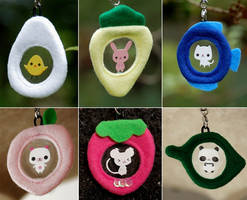 animal cellphone straps by onifrogbox