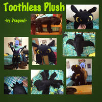 Toothless Plush by Dragowl