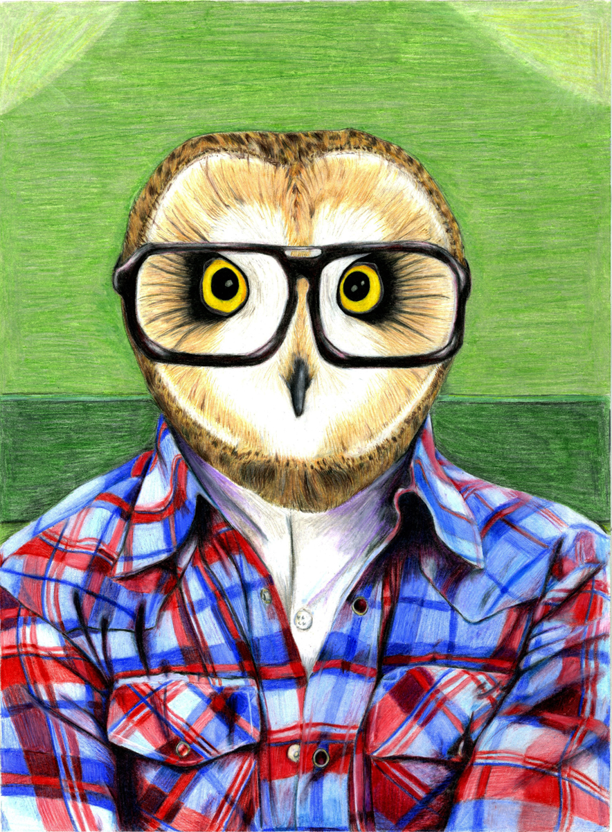 Owl Hipster by Dragowl on DeviantArt