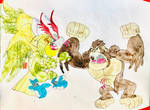 Mighty Krong VS Parrotmon