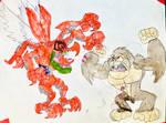 Mighty Krong VS Kuwagamon