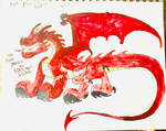 The Fire Dragon of Eden tree Island by masonmdaythetrex