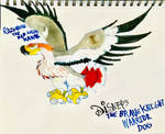 Razorbeak the Red Tailed Hawk by masonmdaythetrex