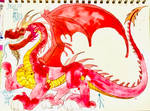 DRAKAN THE BIG FLAME DRAGON by masonmdaythetrex