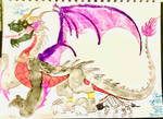 MALEZAI THE DARK DRAGON LORD AND Kurgi by masonmdaythetrex
