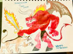 The Great Pit Fiend VS The Giant Cougar by masonmdaythetrex