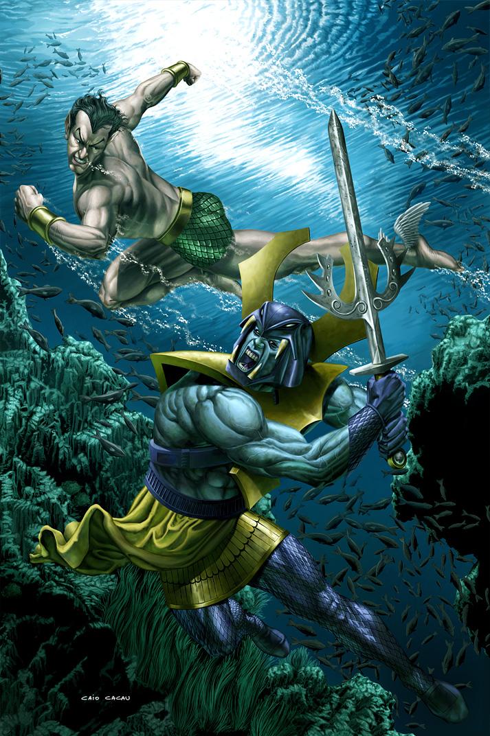 Namor vs. Attuma by caiocacau