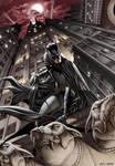 Batman looking over the city