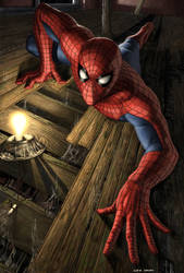 Spider-man upside down by caiocacau