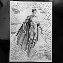 Superman Inkwash