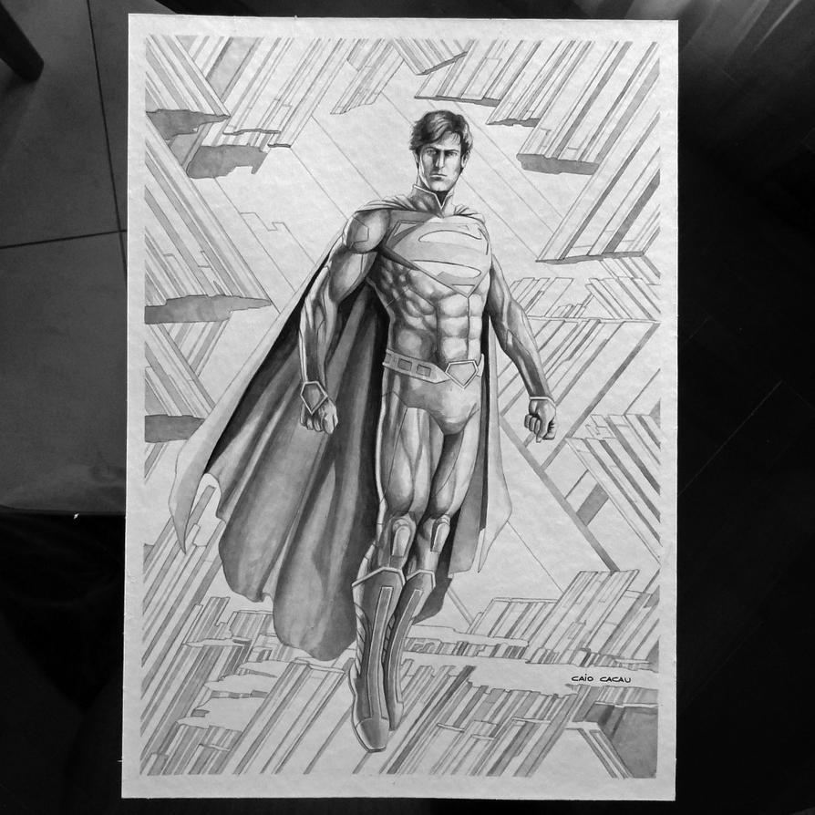 Superman Inkwash by caiocacau