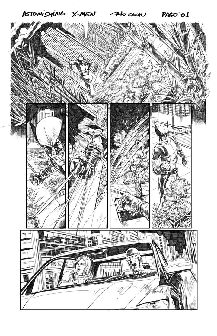 Astonishing X-men Page 01 by caiocacau