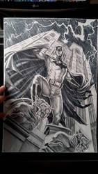 Batman on Gargoyle Commission by caiocacau