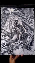 Batman on Gargoyle 02 by caiocacau