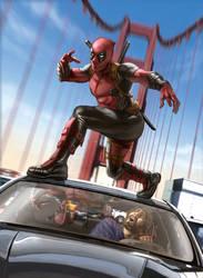 Deadpool by caiocacau