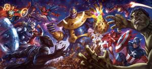 Thanos vs The Avengers