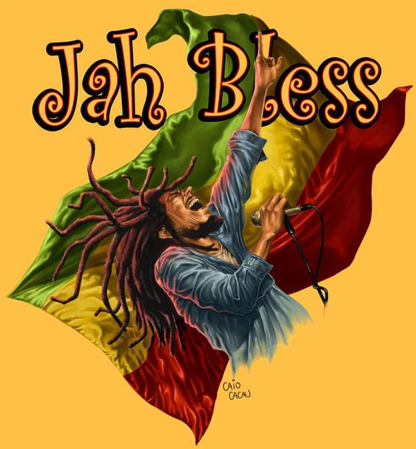 Bob Marley and the flag by caiocacau