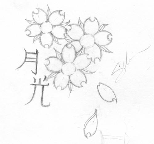 Cherry Blossom Tattoo Stencils Unique Designs