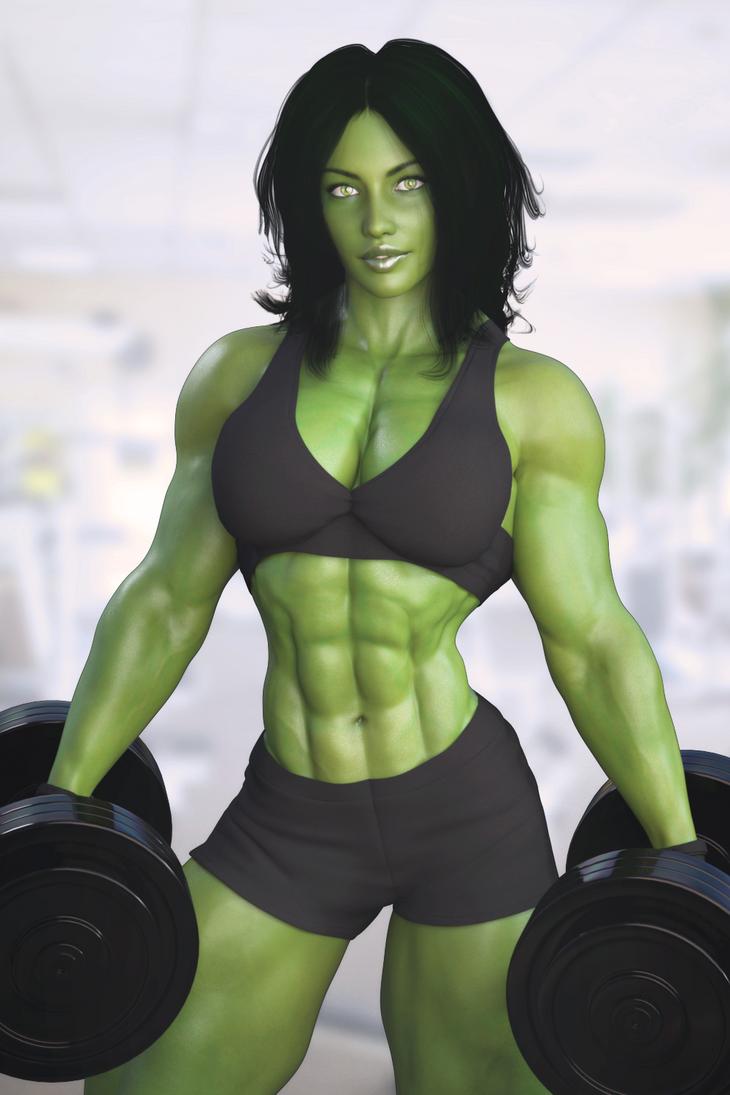She-Hulk Workout by Nivilis on DeviantArt