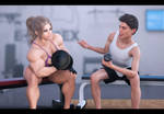So sweet...Workout together
