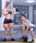 So sweet...Workout together 2