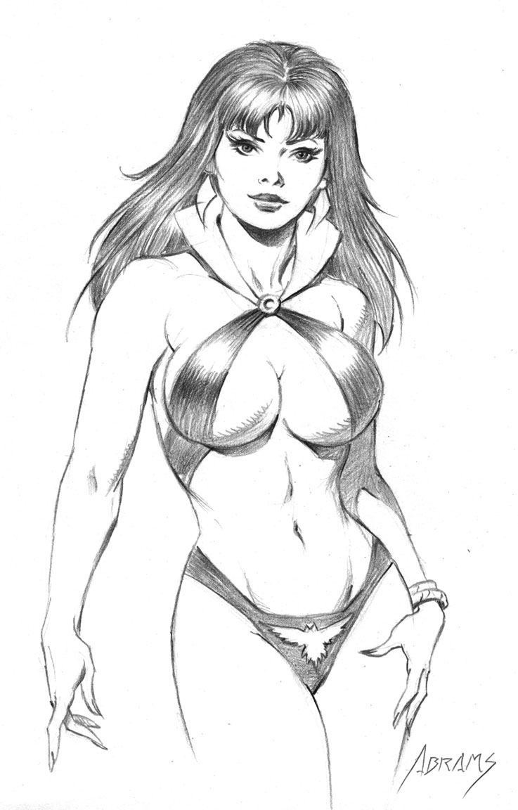 vampirella drawing by PaulAbrams