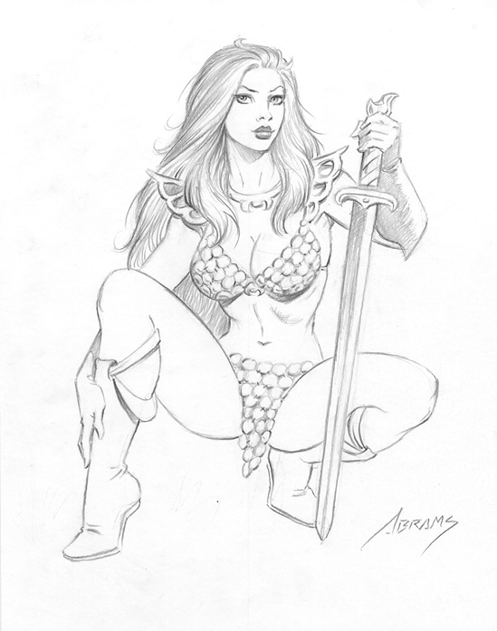 Red Sonja Drawing by PaulAbrams