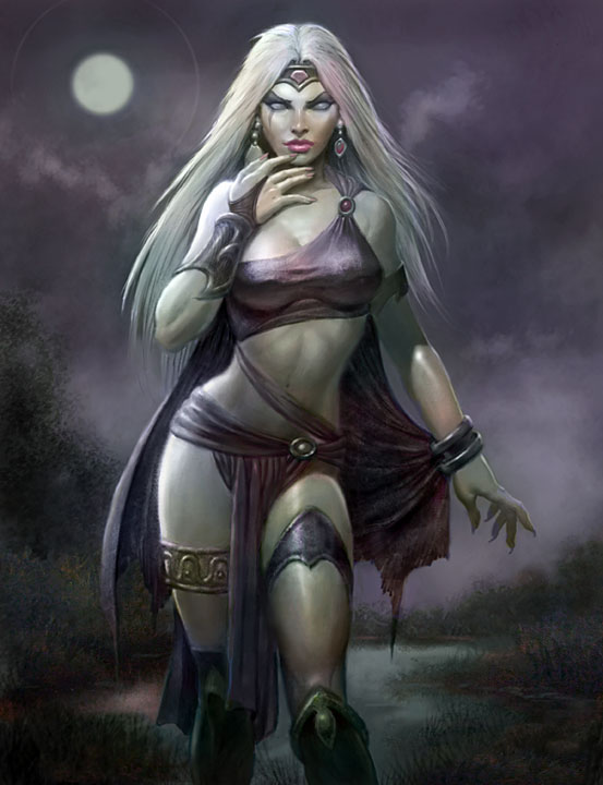 Lunar Witch by PaulAbrams