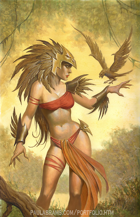 Aztec birdwoman by PaulAbrams