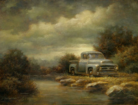 Truck by a Stream