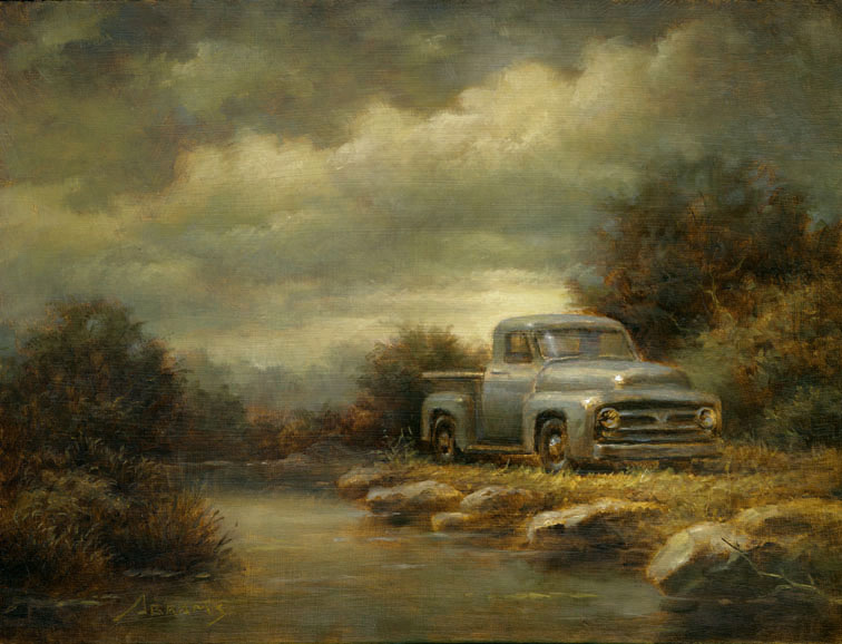 Truck by a Stream by PaulAbrams