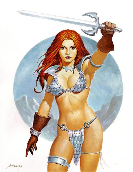 Sonya with Sword by PaulAbrams