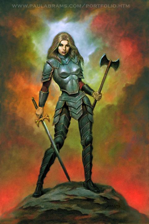 Female Knight by PaulAbrams