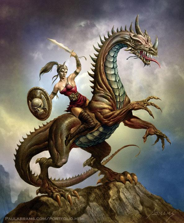 Dragon Warrior by PaulAbrams