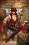 Grace Flynn Death's Ebb Coverart by PaulAbrams