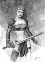 WarriorWoman by PaulAbrams