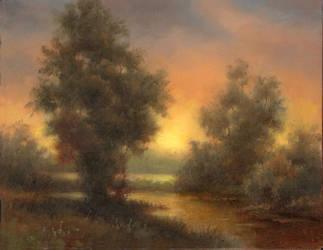 Mid Summer Sunset by PaulAbrams