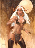 Whitehaired Forest Woman by PaulAbrams