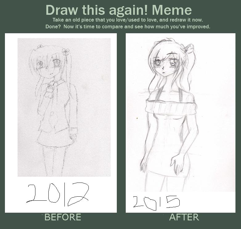 Draw This Again! Meme - Mikiria Rin Furude w/pigta by Meri64