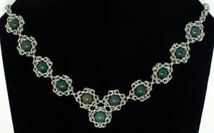 Romanov Bloodstone Necklace by chainmaille