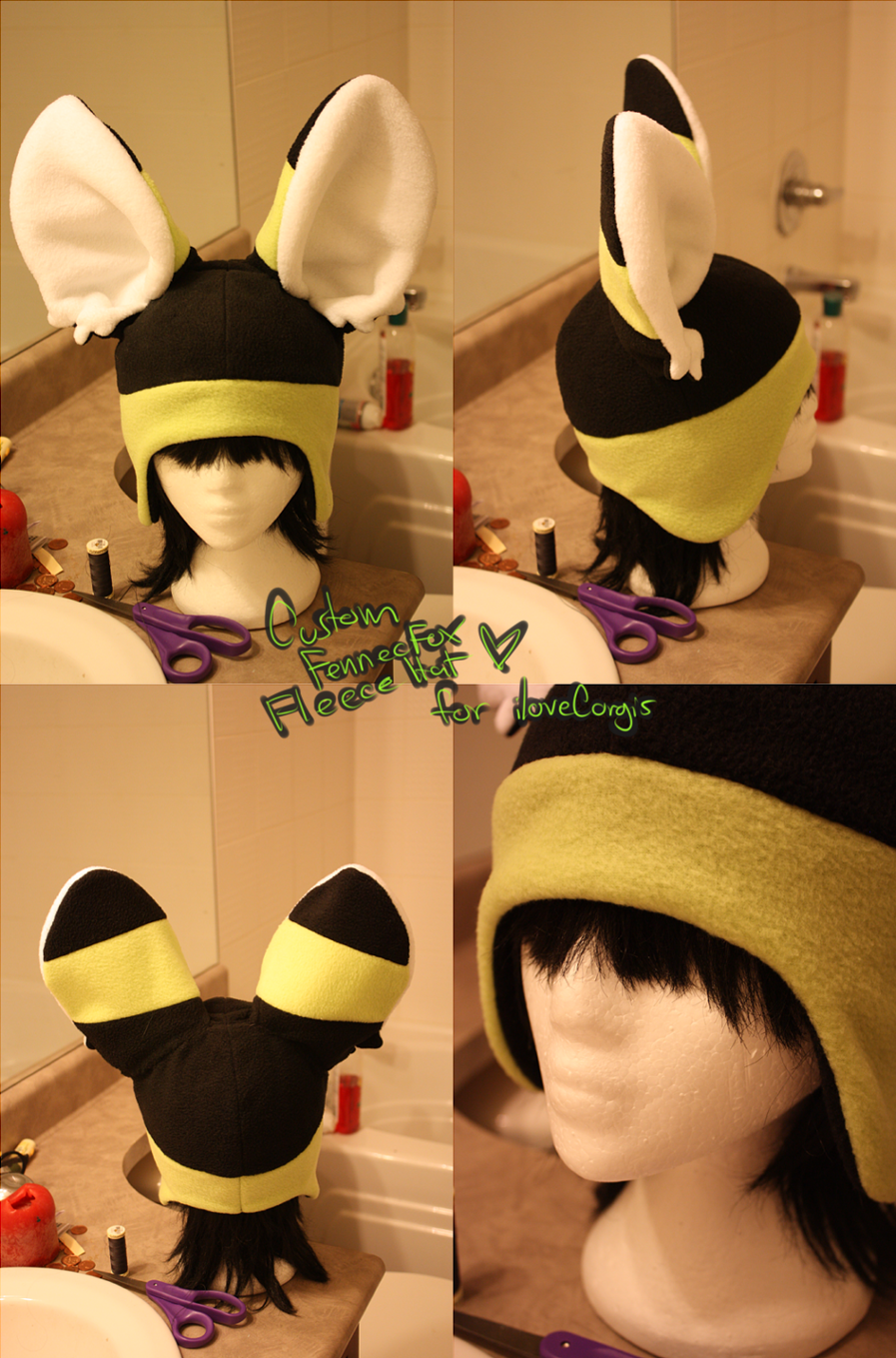+FleeceHat:Custom+ For iLoveCorgis. by Stephys-Adoptables
