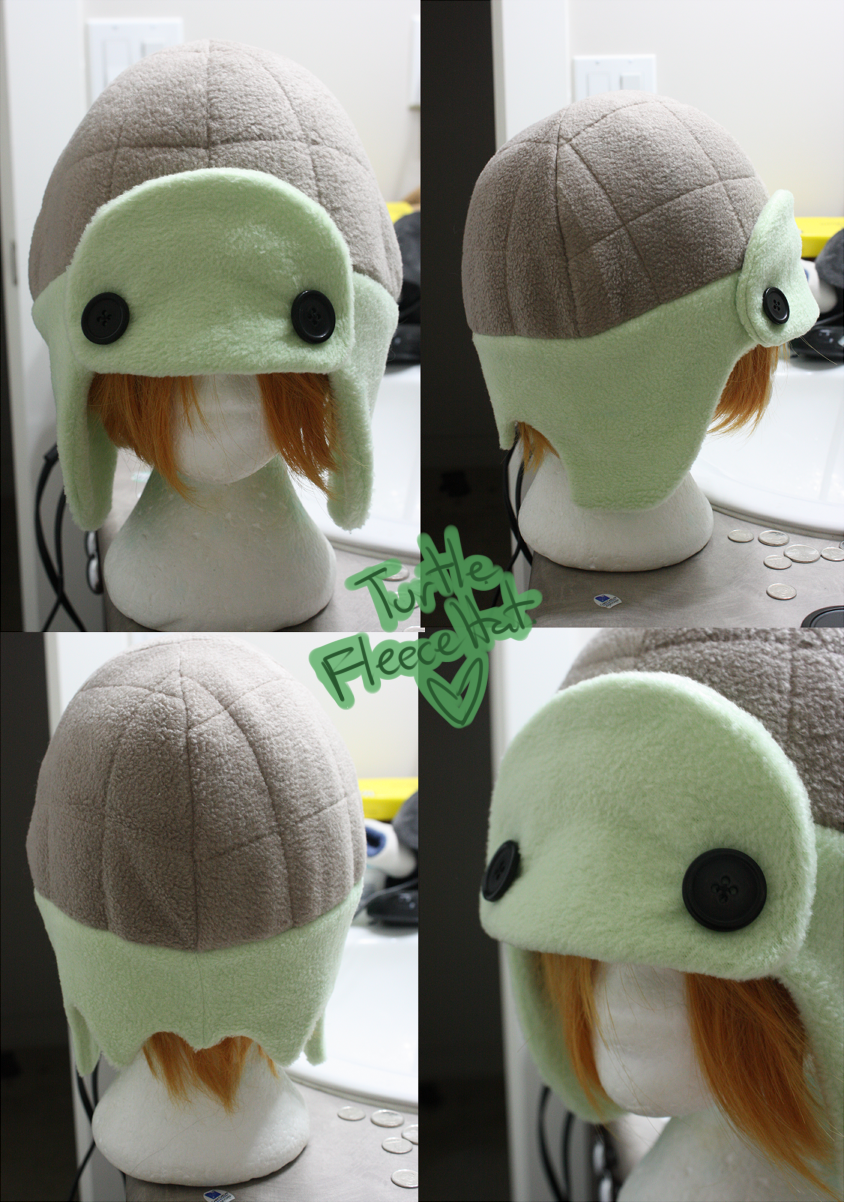 +FleeceHat:Custom+ Turtle Hat. by Stephys-Adoptables