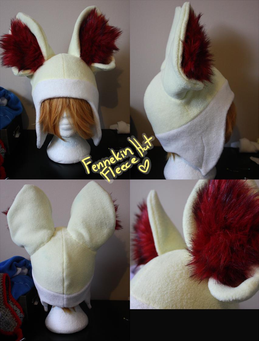 +FleeceHat:ForSale+ Fennekin Hat. by Stephys-Adoptables
