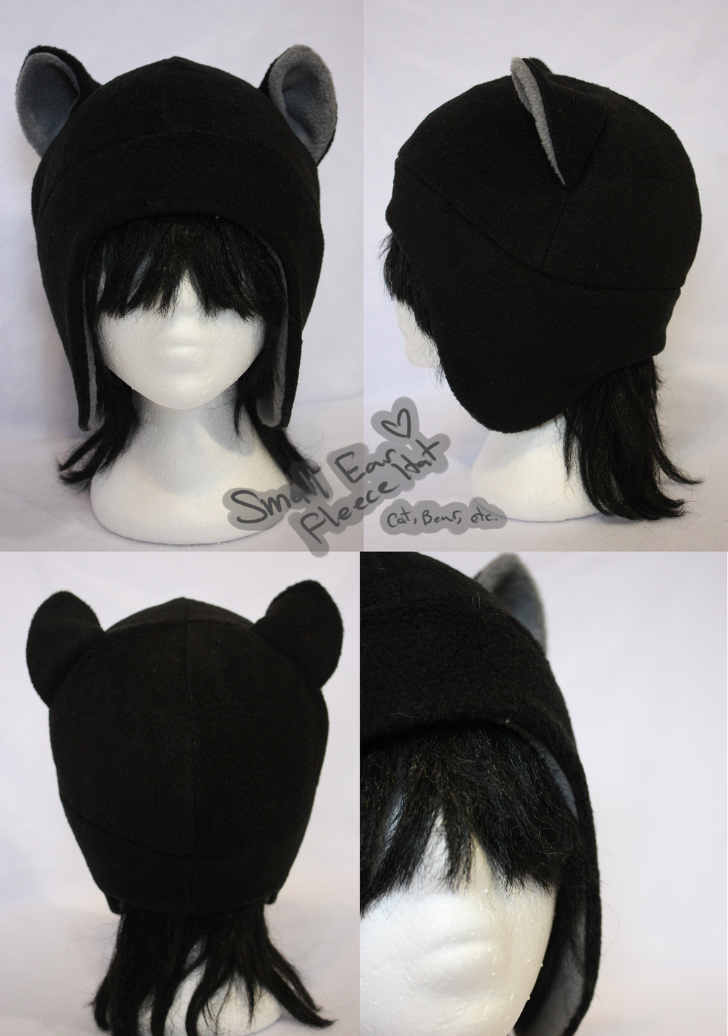 +FleeceHat:MadeToOrder+ Small Ear pattern. by Stephys-Adoptables
