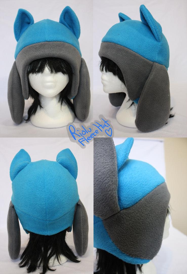 +FleeceHat:Sold+ Riolu hat. by Stephys-Adoptables