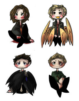 +Artwork+ Supernatural Chibis.