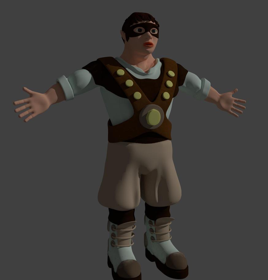 Slippy Thief in Bender 3D by merobablue