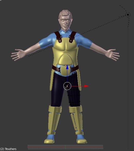 Star Captain - Male in Blender 3D by merobablue