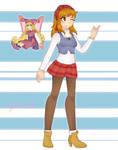 Kururu and her friend